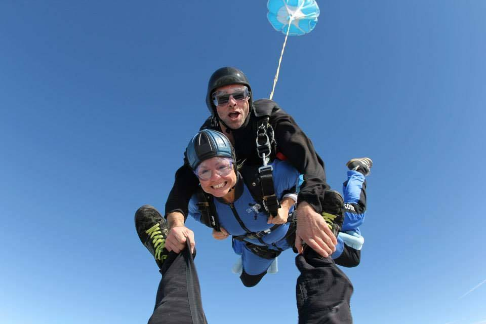A fundraiser doing a tandem skydive!